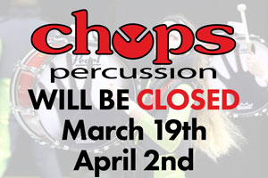 Chops closed on 3/19/16 & 4/2/16