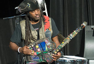 Futureman (Roy Wooten) and Jeff Coffin Clinic at Fishers High School on February 23, 2016 at 4:30pm.